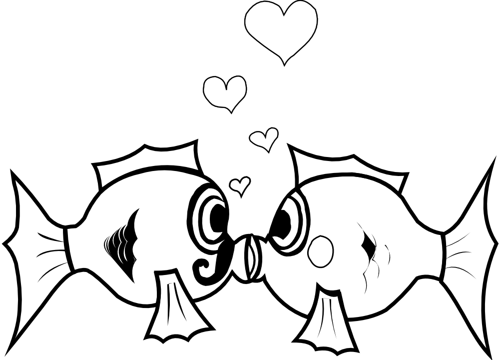 Kiss clipart black and white. Free love art pictures