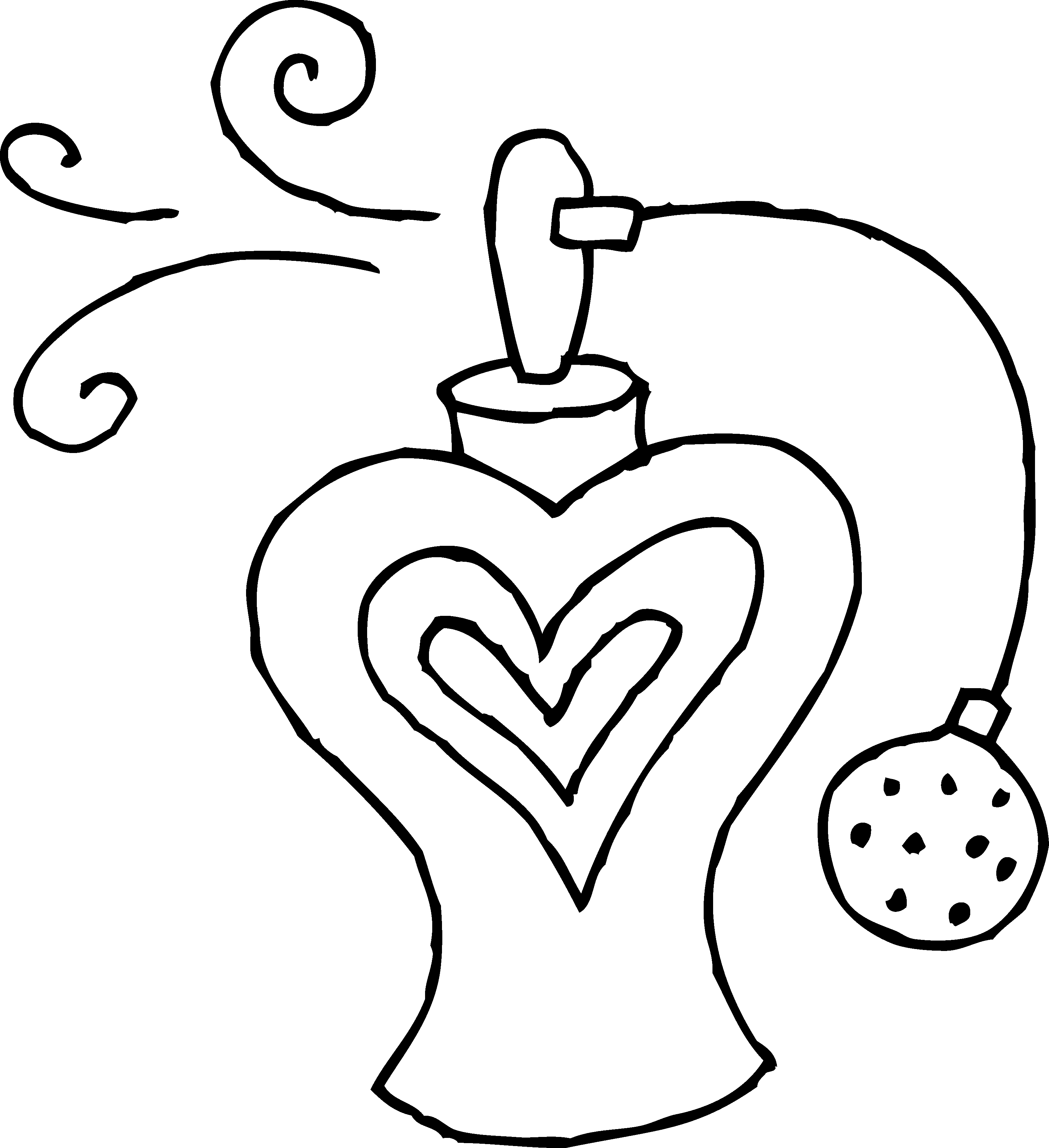 Perfume clipart body spray. Bottle line art free