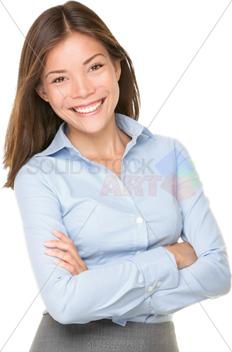 Person arms crossed png. Stock photo of smiling
