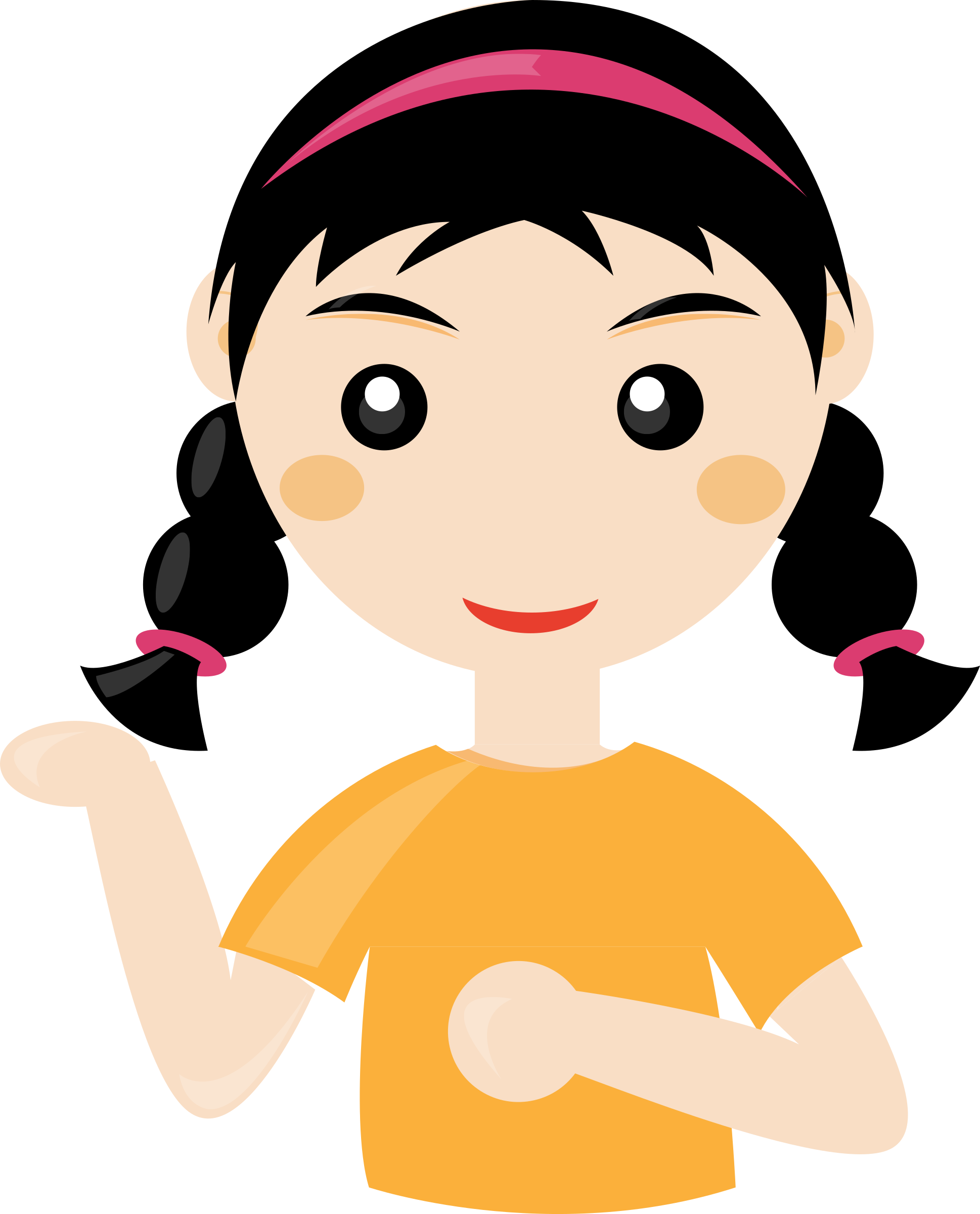 Person cartoon png. Clipart cute girl big