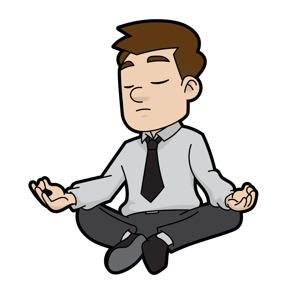 Person cartoon png. File meditating man svg