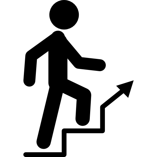 Person climbing ladder png. Stairs icon page