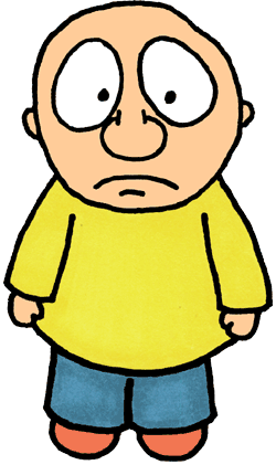 Sadness clipart head. Small person