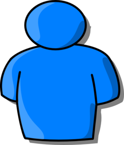 Pictures clipart person. Blue clip art at