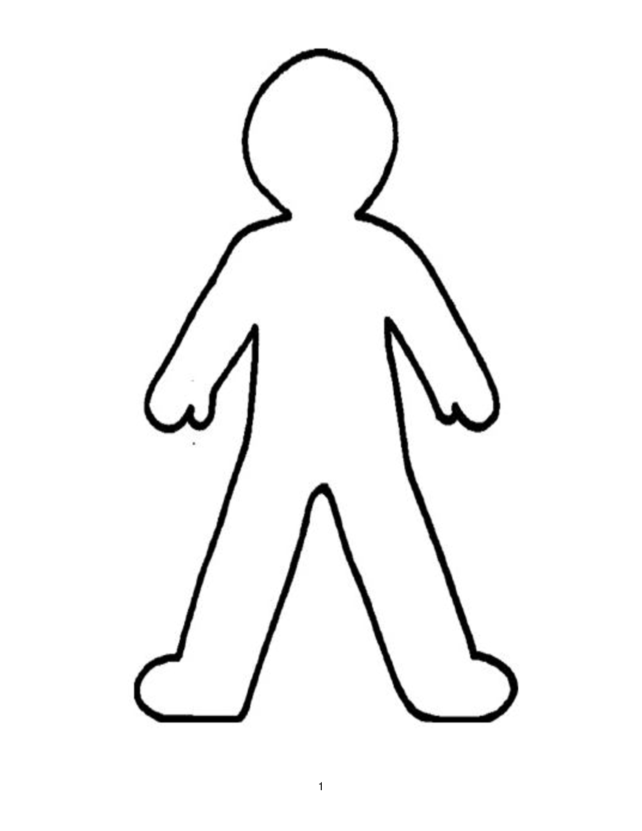 Person clipart line. Doll outline template best