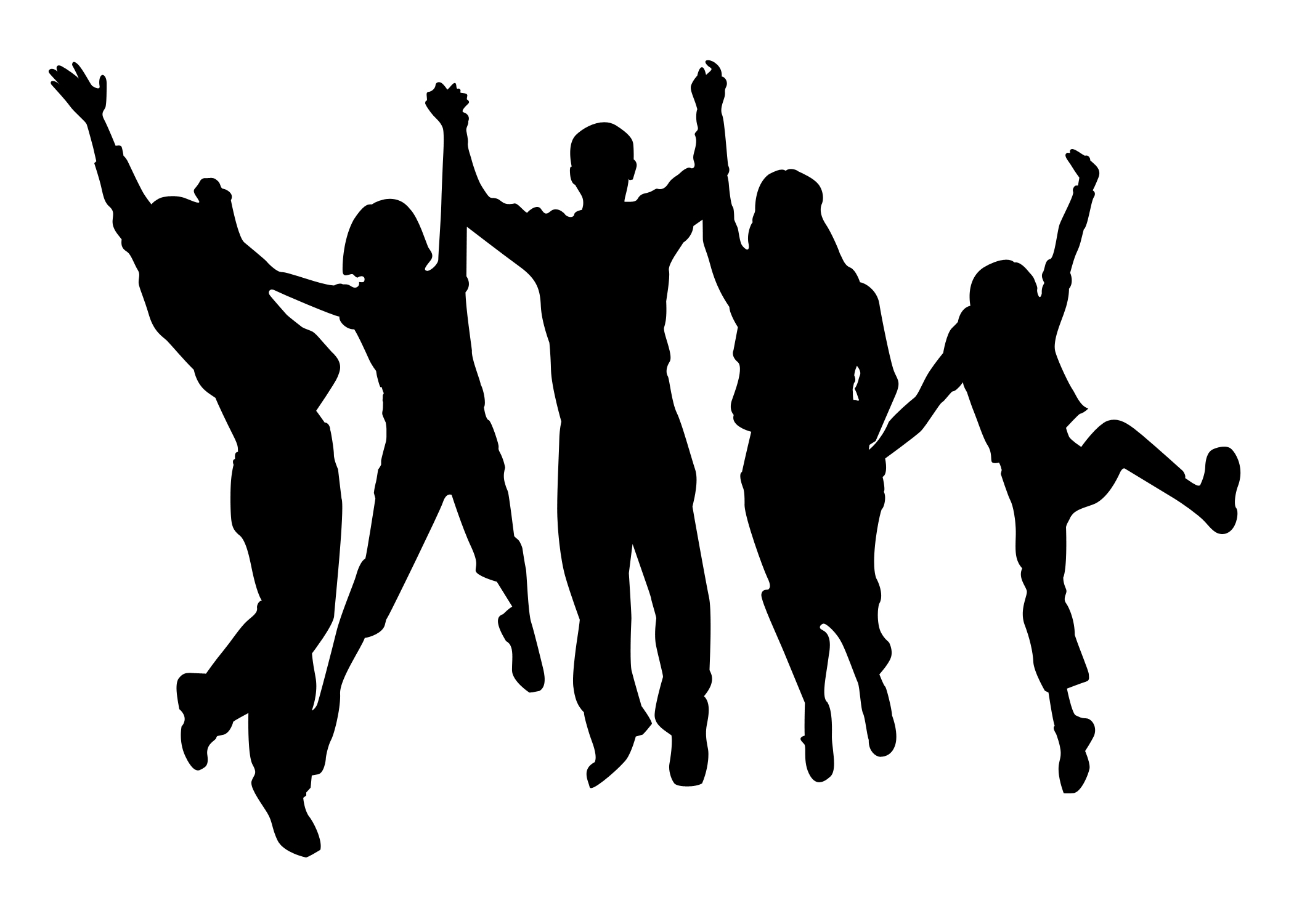 Person clipart shadow. Cheering family free images