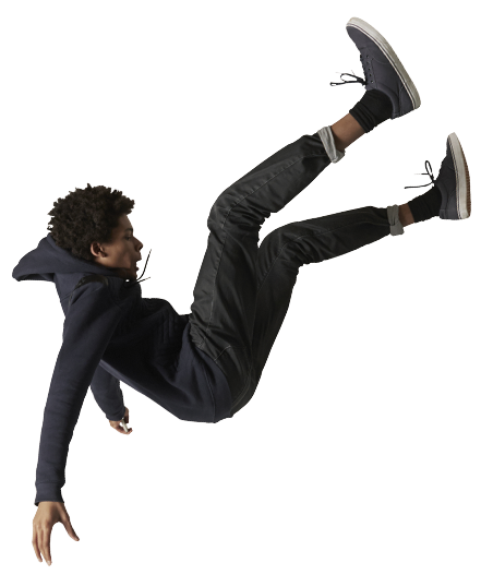 Person falling png. Images in collection page