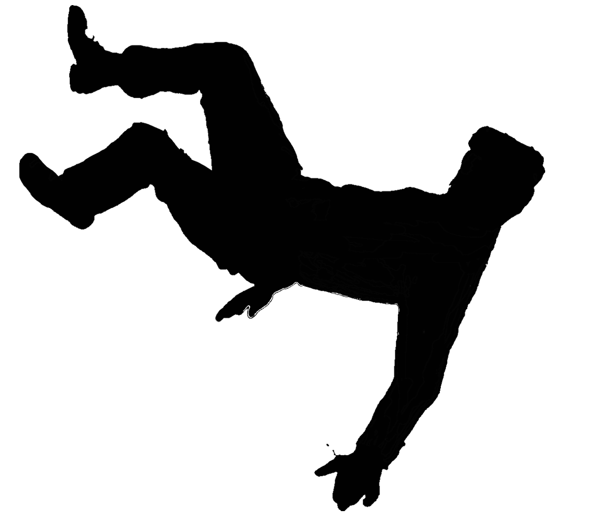 Person falling png. Man silhouette at getdrawings