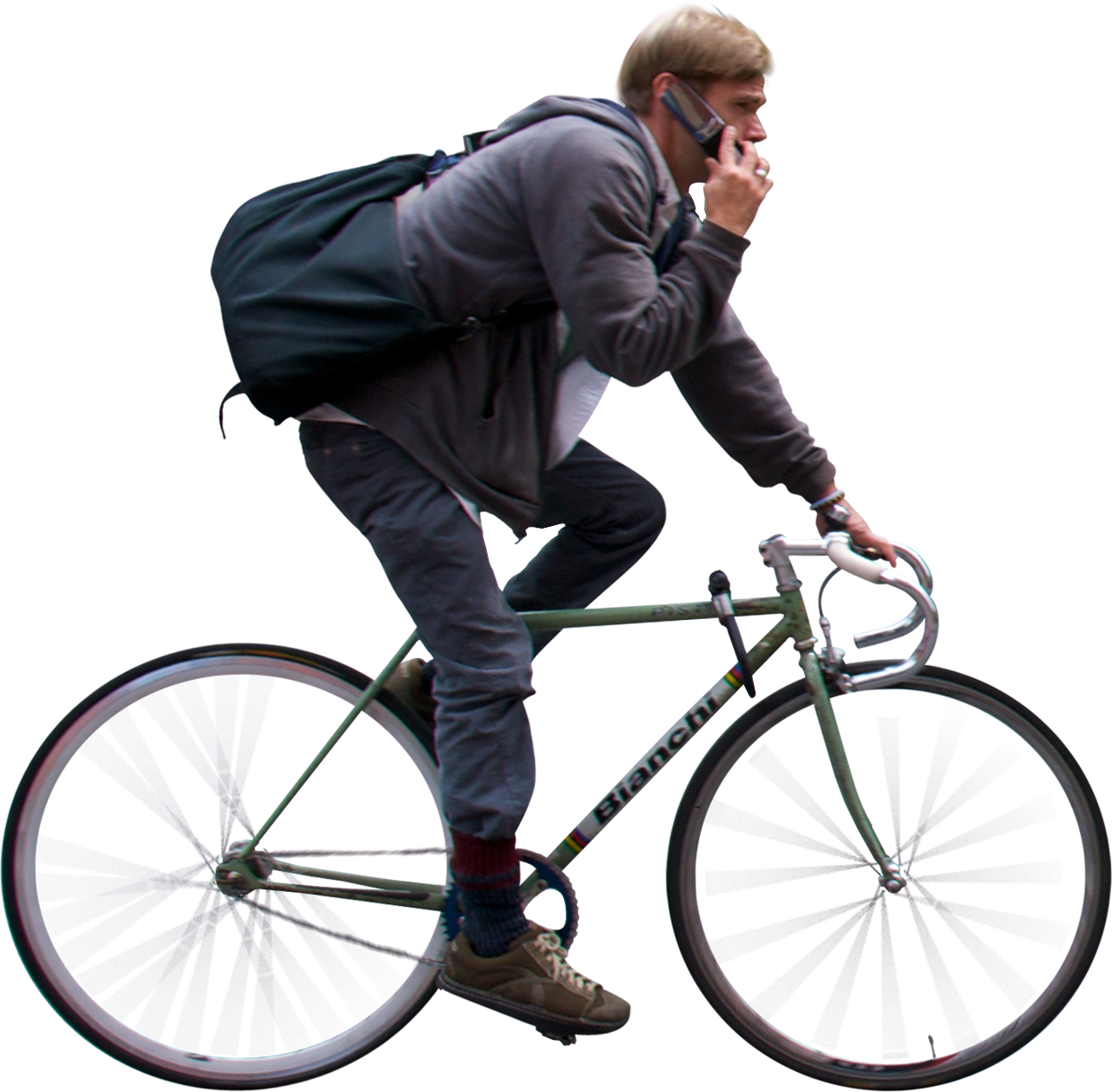 Bicycle people png. Man riding and using