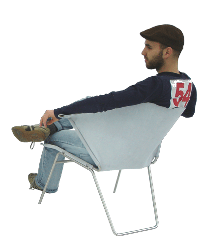 Person sitting in chair back view png. Image