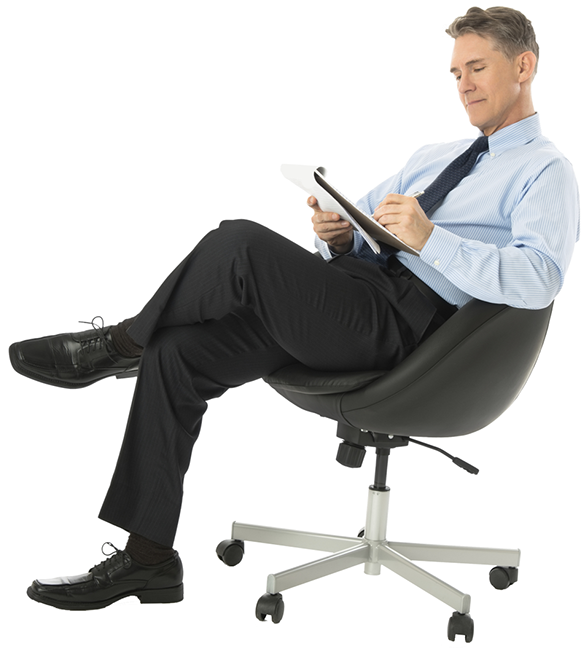 Person sitting in chair png. Man image purepng free