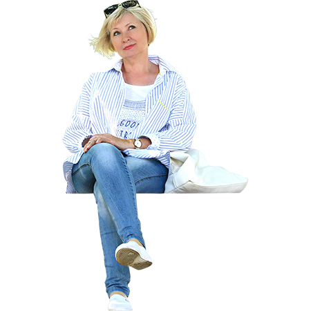 Person sitting legs crossed png. A lovely woman on