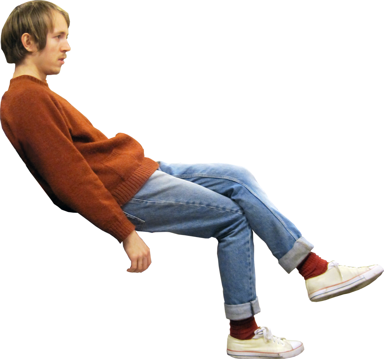 Person sitting on bench png. Man transparent mart