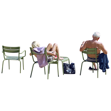People at pool png. This retired couple is