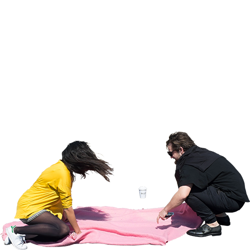 Person sitting on the floor png. E and j