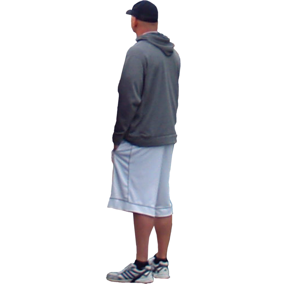 Person standing png. Side view of a