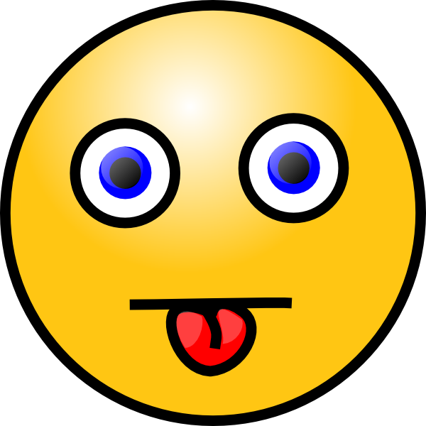 Person sticking tongue out png. Smiley with clip art