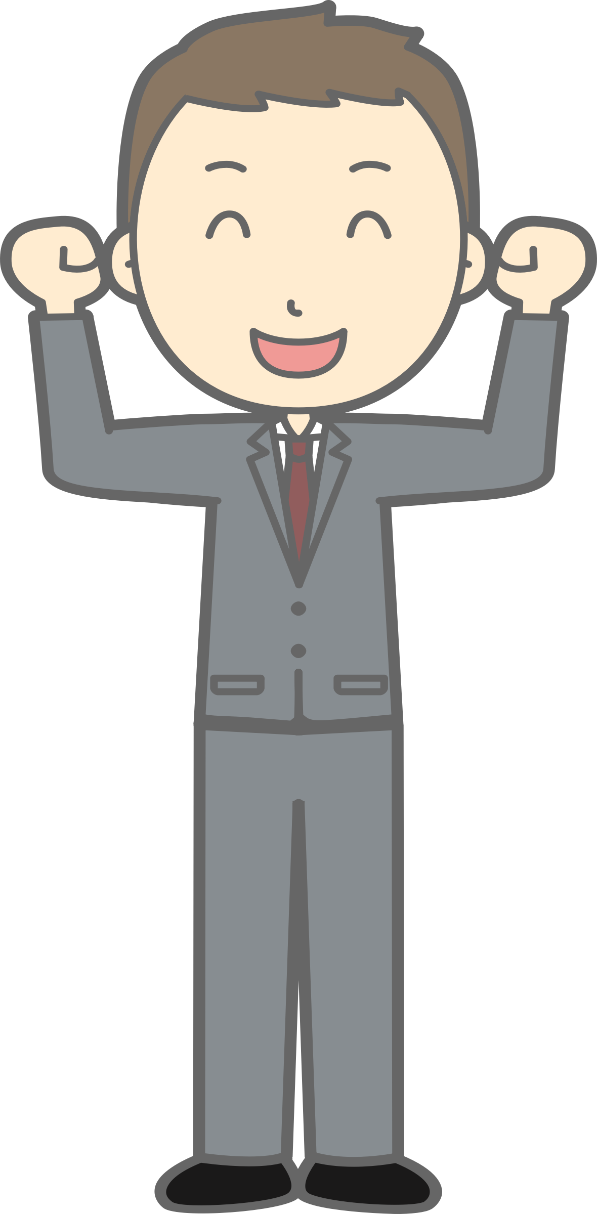 Person svg full body cartoon. Clipart male can do