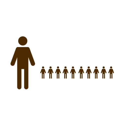 Person svg infographic. People symbols transparent png