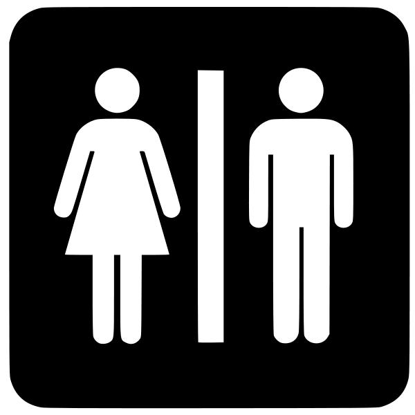 Illogical fears of public. Person svg restroom clip art royalty free