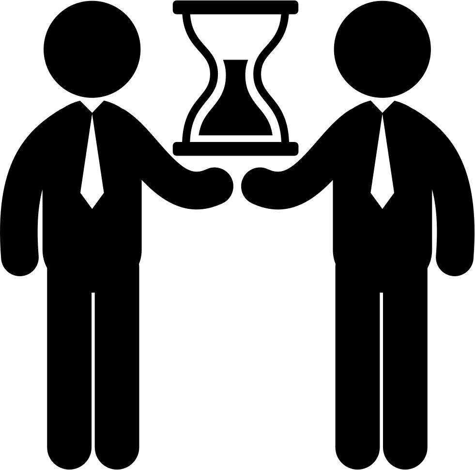 Person svg two. Business time for businessmen