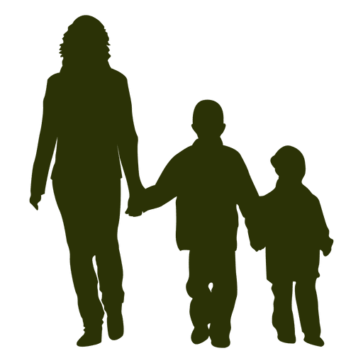 Person svg two. Mom with sons transparent