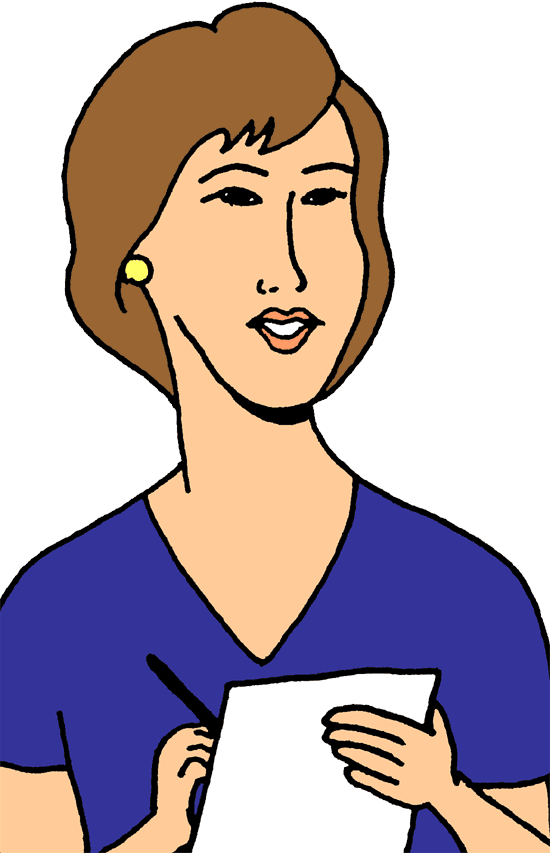 Person taking notes png. Collection of clipart