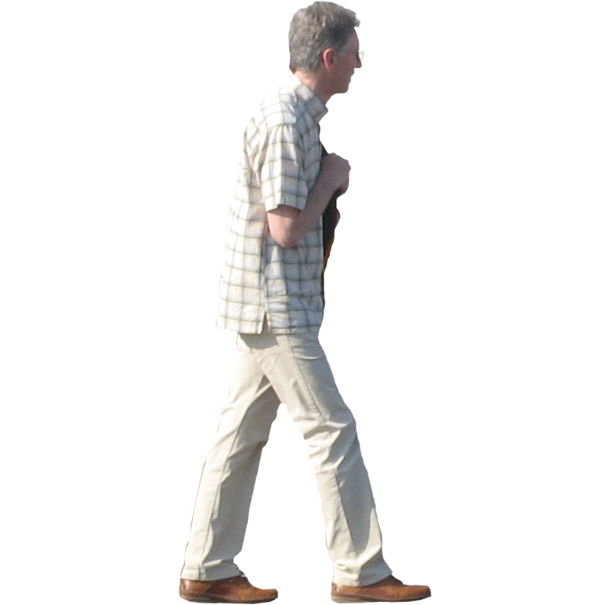 Person viewer png. Side view of a