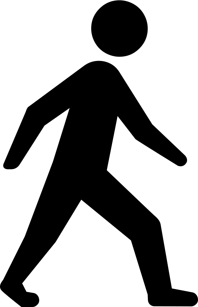 Walking people silhouette png. Person svg icon free