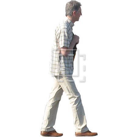 Person walking side view png. Man in glasses parent