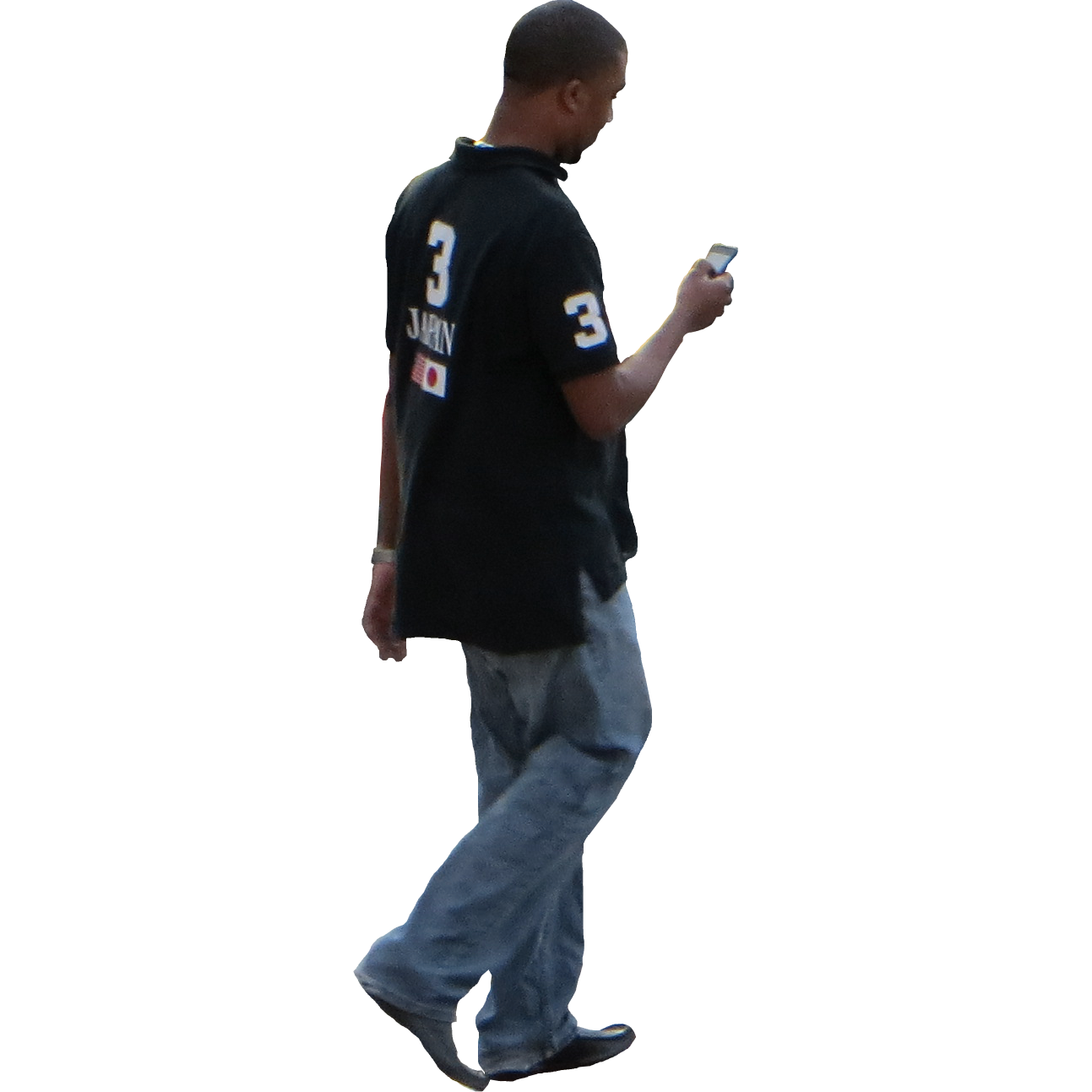 Person walking side view png. Of a standing transparent