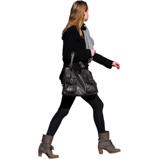 Person walking side view png. Image