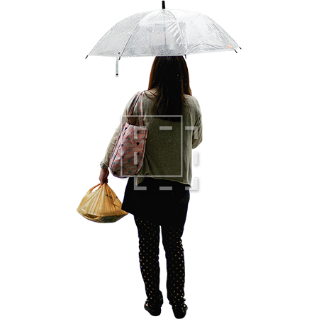 Person with umbrella png. Tokyo parent category cutouts