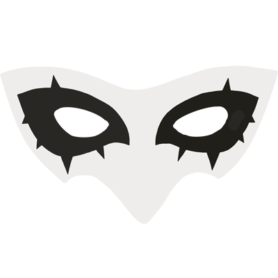 Persona 5 mask png. Support campaign on twitter
