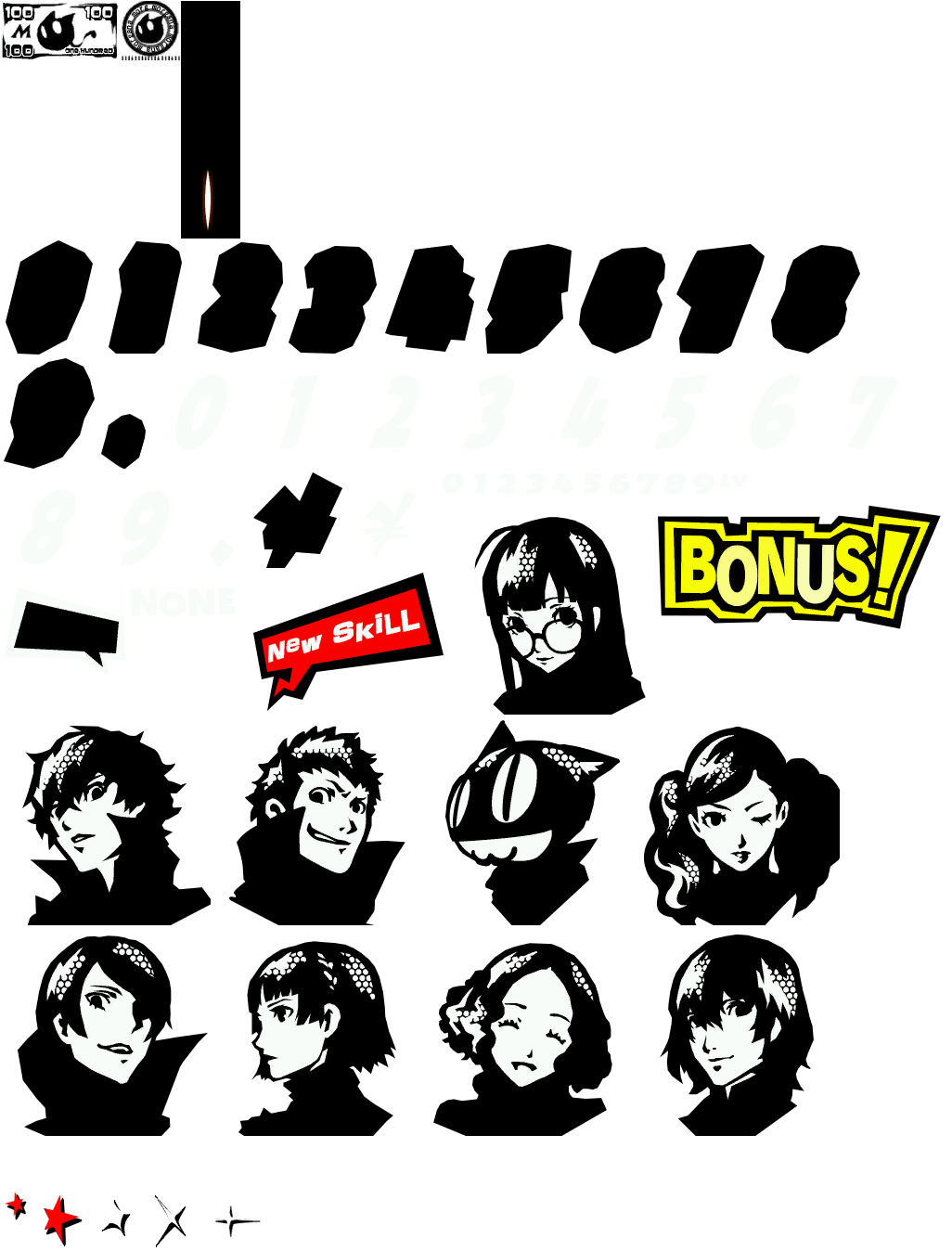 Persona 5 png. Hud clipart images gallery