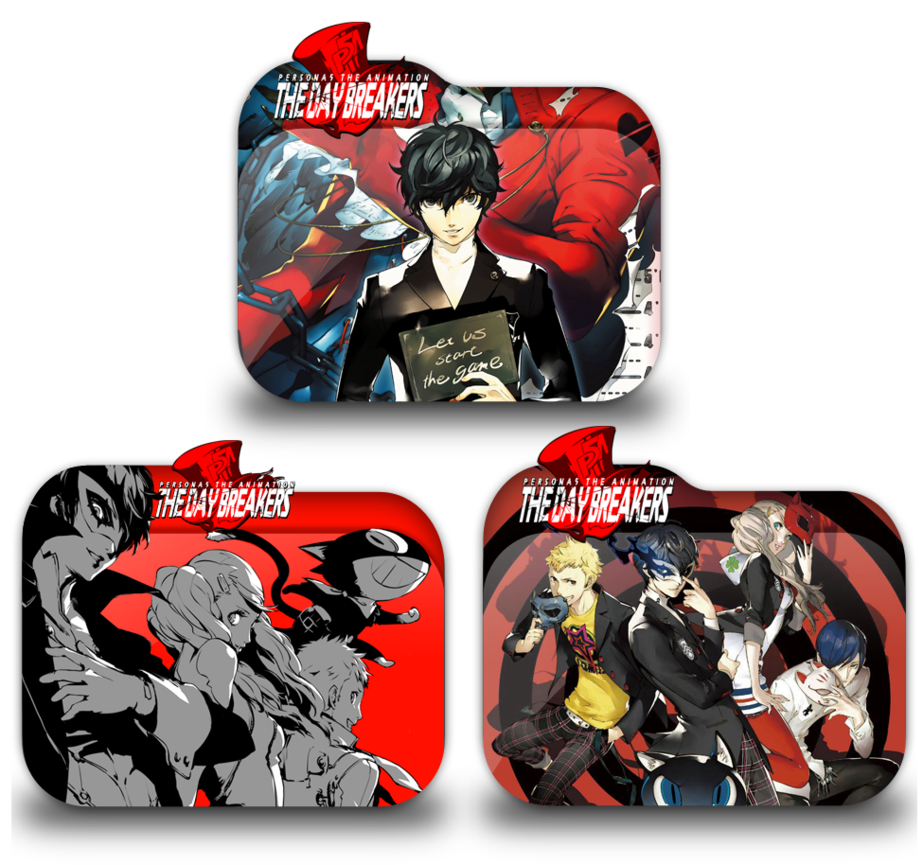 Persona 5 the animation png. Day breakers icon pack
