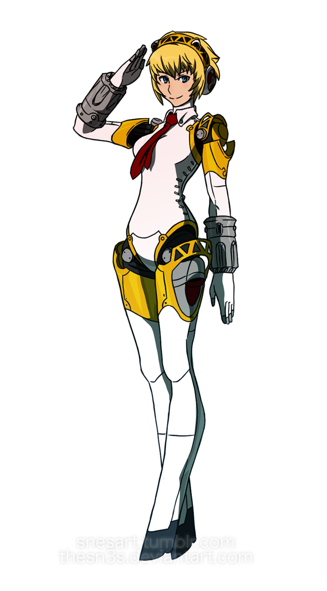 Persona drawing aigis. P a by thesn
