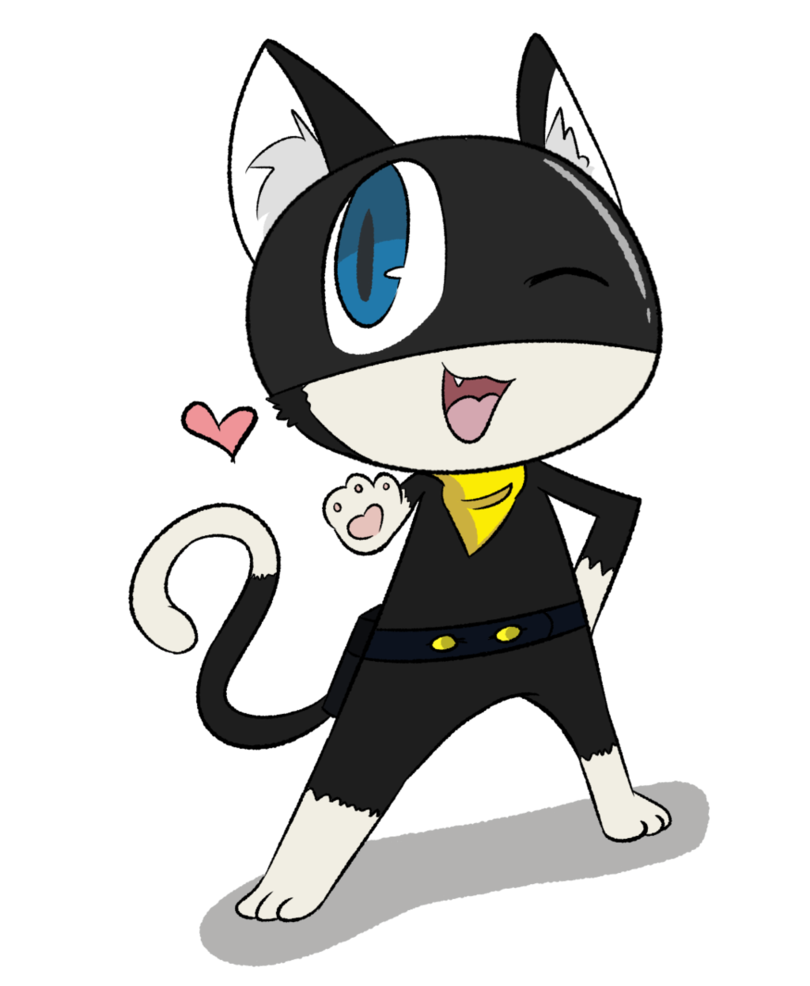 Persona drawing concept art. Morgana by starriichan on