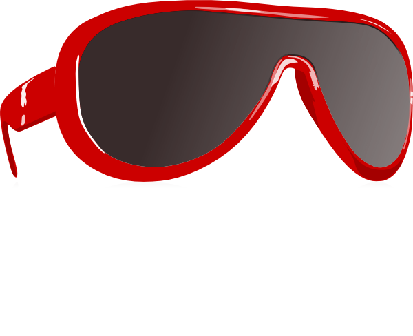 Personal clip vector. Red sunglasses art free