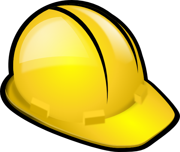 Personal clip vector. Yellow construction hardhat art
