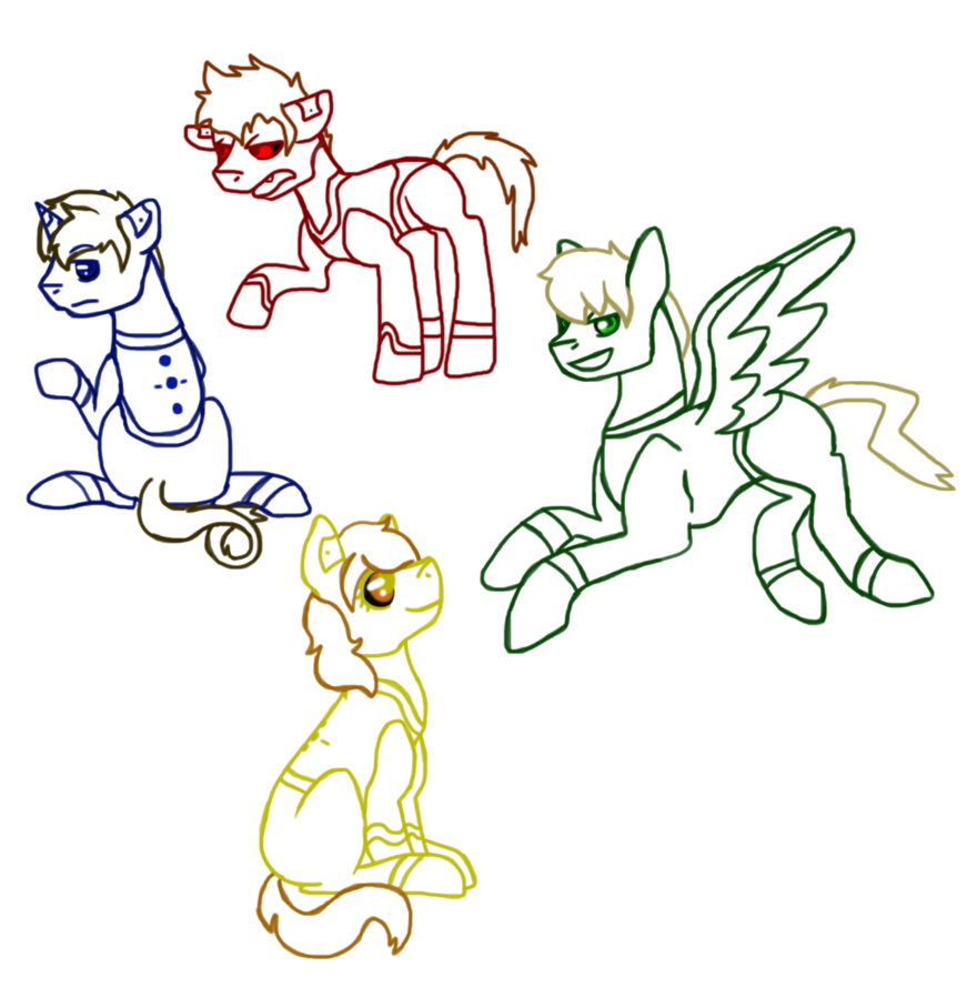 Personality drawing. Core ponies by that
