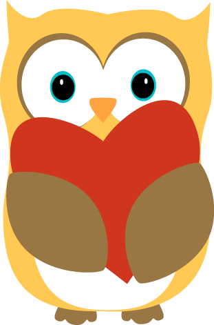 Valentine clipart owl. Free holding heart cliparts