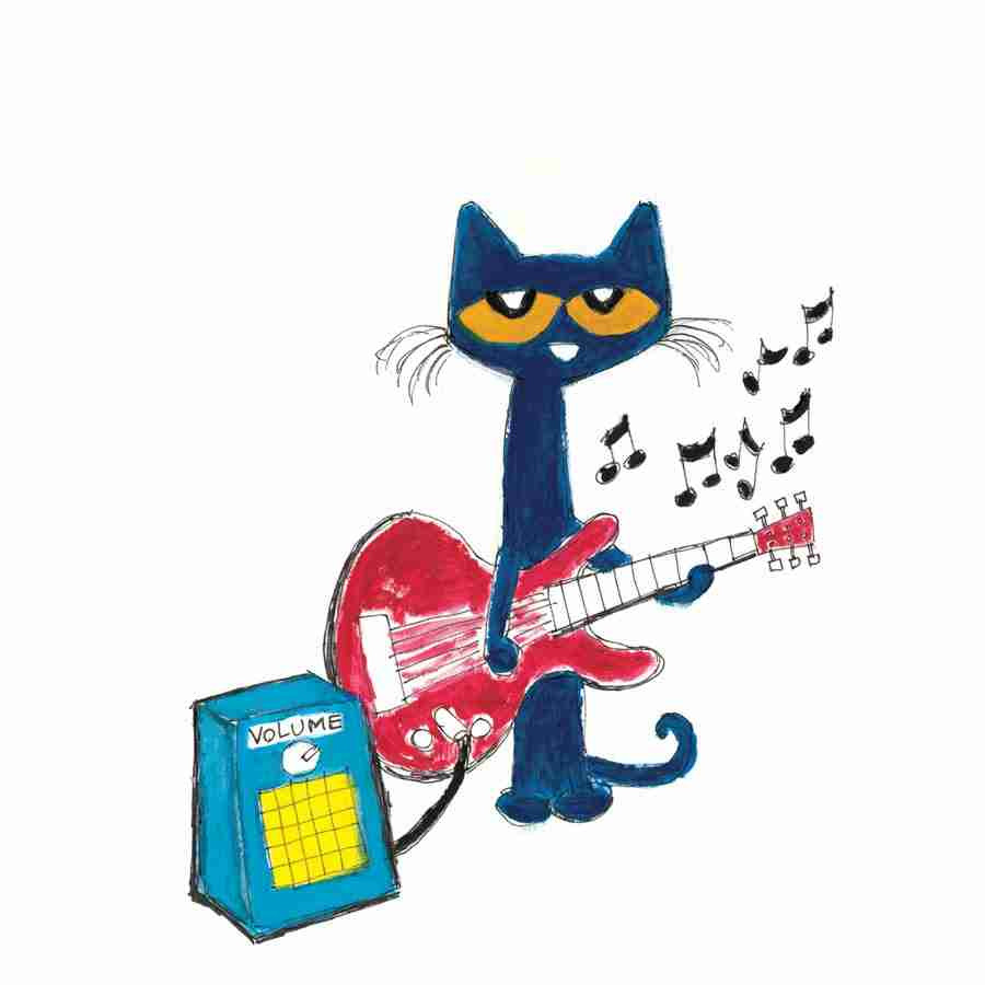 Pete the clipart. Cat with guitar clip
