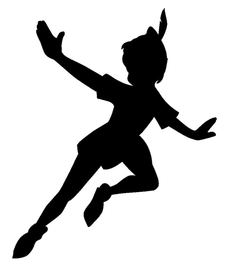 Pete the clipart peter pan. Tinkerbell silhouette images at