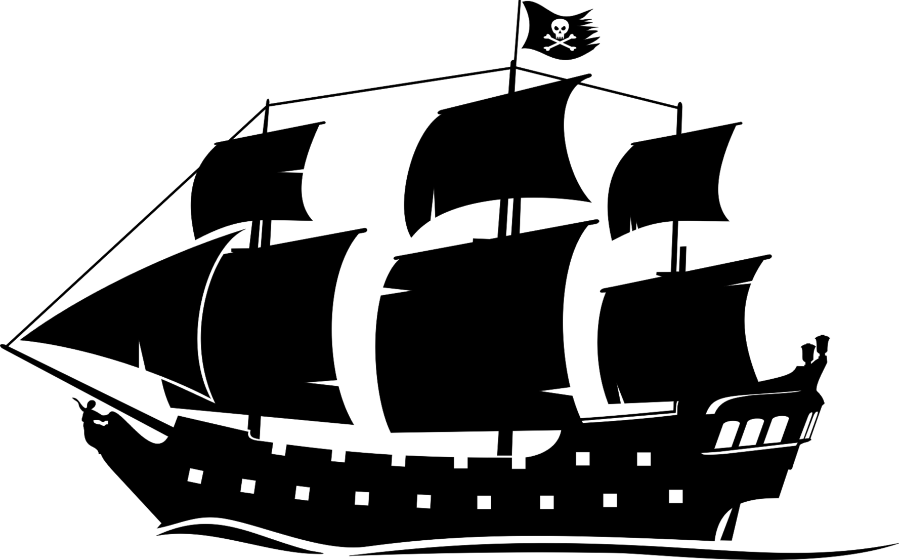 Peter pan ship png. Pirate silhouette clipart clip