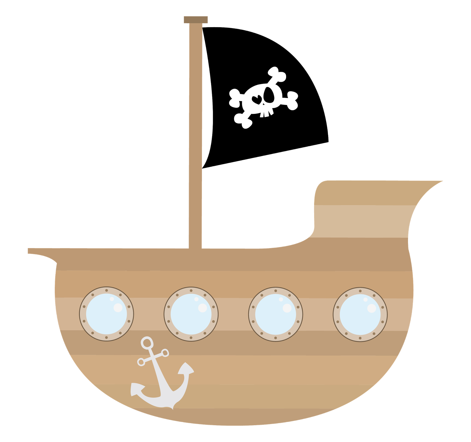 Peter pan ship png. Pirate clipart kid story
