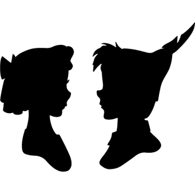 Peter pan silhouette png. And wendy transparent stickpng