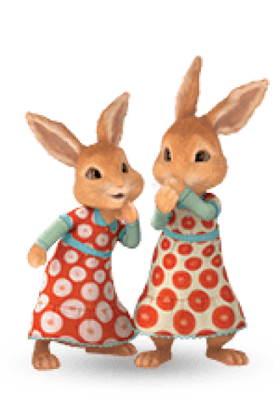 Peter rabbit png. Dlpng two girl rabbits