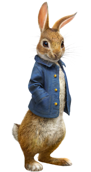 Peter rabbit png. Image movie standing sony