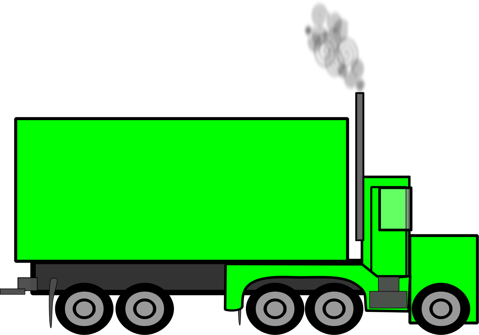 Peterbilt drawing. Semi trailer truck car